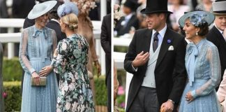 Kate Middleton pregnant Royal frenzy as Kate cradles tummy at Royal Ascot Image GETTY