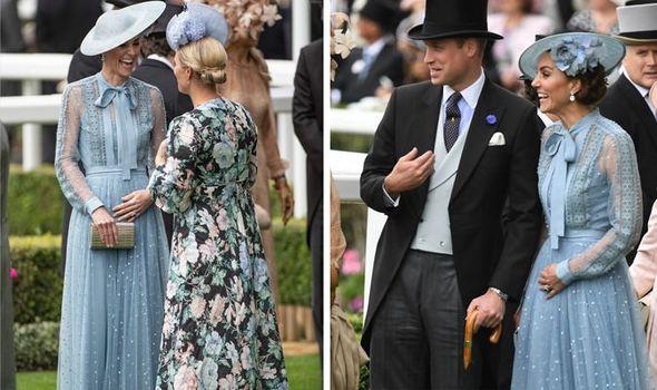 Kate Middleton pregnant Royal frenzy as Kate cradles tummy at Royal Ascot Image GETTY