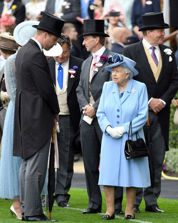 Kate Middleton pregnant The Queen looked at home in the Royal enclosure Image GETTY