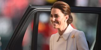 Kate Middleton takes the salute as she makes stunning debut at Beating Retreat Photo C GETTY IMAGES