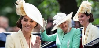 Kate Middleton wore an eye catching yellow dress as she attended Trooping the Colour Image GETTY
