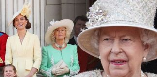 Kate and Camilla broke protocol when they failed to curtsy to the Queen Image BBC