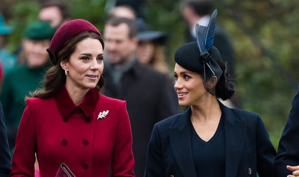 Kate and Meghan have been sisters in law for over a year Image GETTY