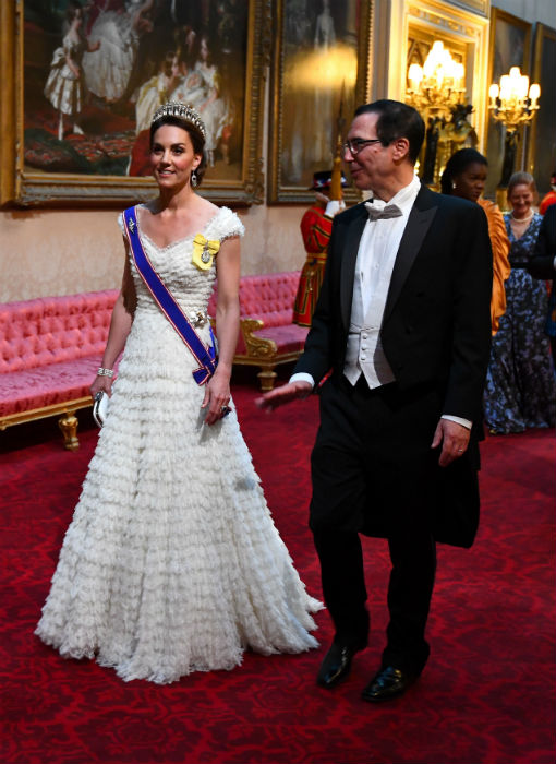 Kate debuted her new insignia at the banquet Photo C Getty Images