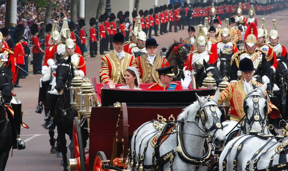 Kate even had to endure her allergy at her own wedding with a horse drawn carriage Image GETTY