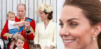 """Kate revealed she """"drags outside"""" her three children every day Image GETTY"""