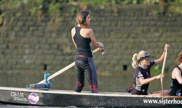 Kate signed up for a charity challenge with an all female boat racing crew during the break up Image GETTY