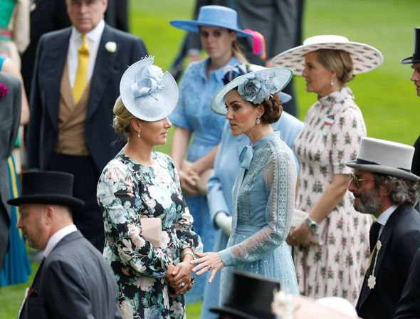 Kate spent time talking to Queen Maxima this morning Image REUTERS