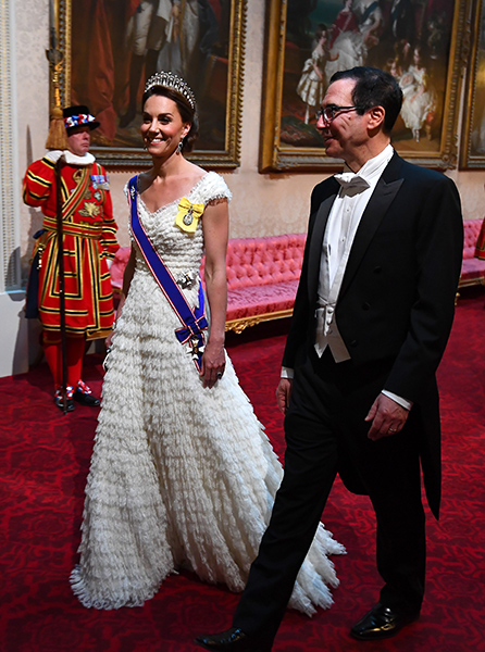 Kate was accompanied by Steve Mnuchin the US Secretary of the Treasury Photo C Getty Images