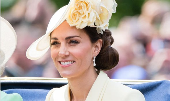 Kate was suffering from motion sickness from the swaying of the vintage coach Image GETTY