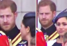 Meghan Markle and Prince Harry at Trooping The Colour last weekend Image GETTY