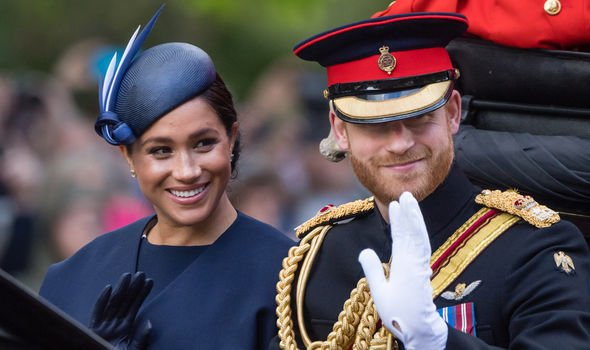 Meghan Markle and Prince Harry at the Queens annual Trooping the Colour parade Image GETTY
