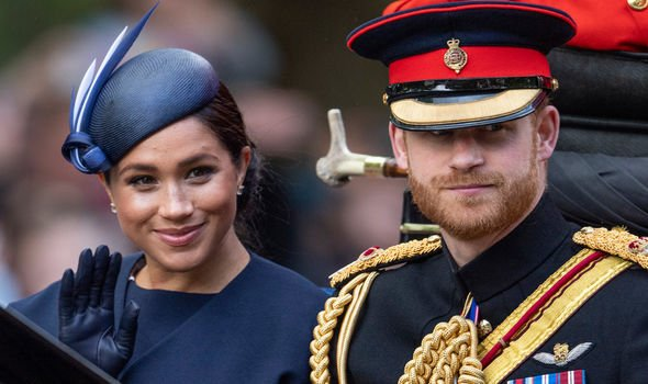Meghan Markle and Prince Harry at this years Trooping the Colour Image GETTY