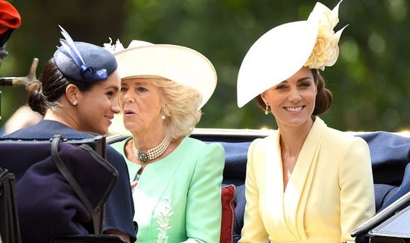 Meghan Markle at Trooping the Colour on Saturday Image GETTY