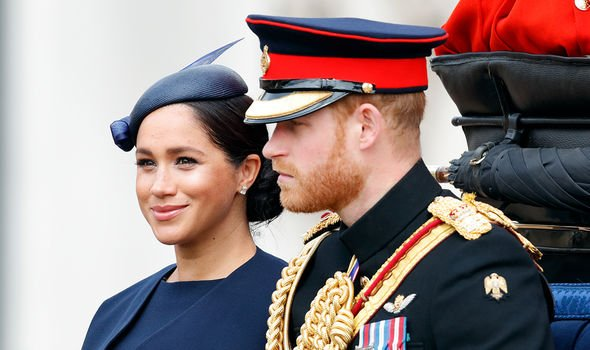 Meghan Markle joined Prince Harry at Trooping the Colour in London Image GETTY