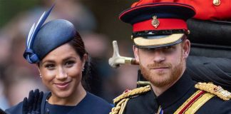 Meghan Markle sported a simple blue dress at Trooping the Colour Image GETTY