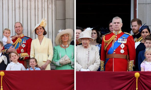 Meghan Markle vs Kate Middleton Meghan and Kate were at opposite sides of the balcony Image GETTY