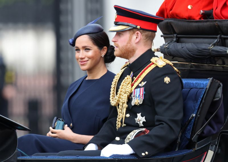 Meghan and Harry at Trooping the Colour Photo Getty