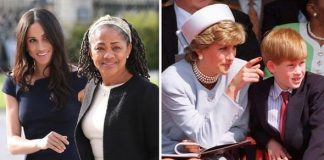 Meghan and her mother Doria Harry and his mother Diana Image GETTY
