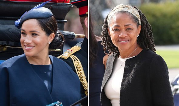 Meghan and her mother Doria Ragland Image GETTY