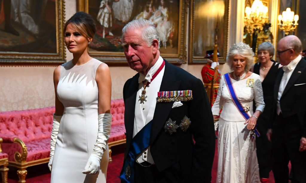 Melania Ivanka and Tiffany Trump wear glamorous gowns for the Queens state banquet Photo C Getty Images