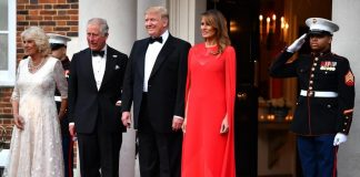 Melania Trump wore Meghan's favourite designer to host the royals Photo C Gett Images