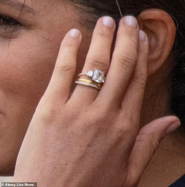 On recent outings the Duchess has worn a different band