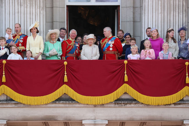 On the balcony with the royal family Photo C getty Images