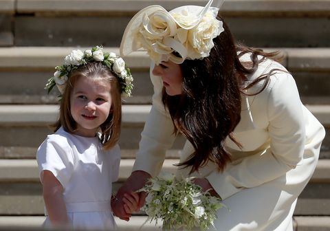 PRINCESS CHARLOTTE WITH HER MOTHER THE DUCHESS OF CAMBRIDGE