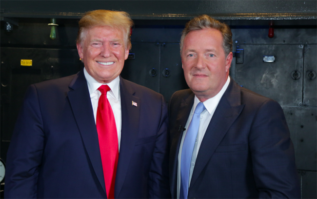 Piers interviewed Donald Trump for Good Morning Britain Photo C Getty Images