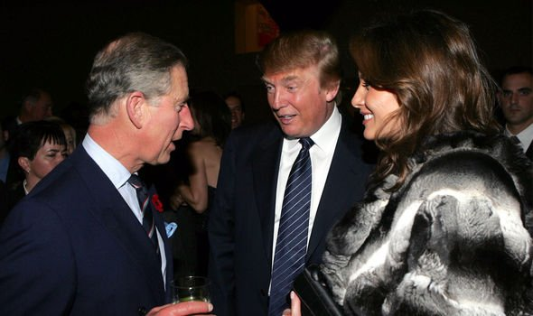 Prince Charles with Donald and Melania Trump on the New York visit in Image Getty