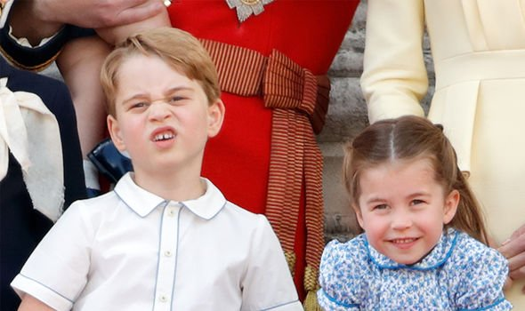 Prince George and Prince Charlotte also attended the celebrations alongside their parents Image GETTY