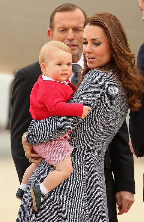 Prince George first wore the striped shorts during his first royal tour of Australia in GETTY IMAGES