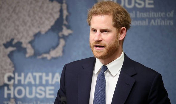 Prince Harry makes a speech during a Chatham House Africa Programme event Image PA