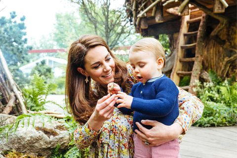 Prince Louis borrowed his brothers striped dungarees at the Duchess of Cambridge'sMATT PORTEOUS REX