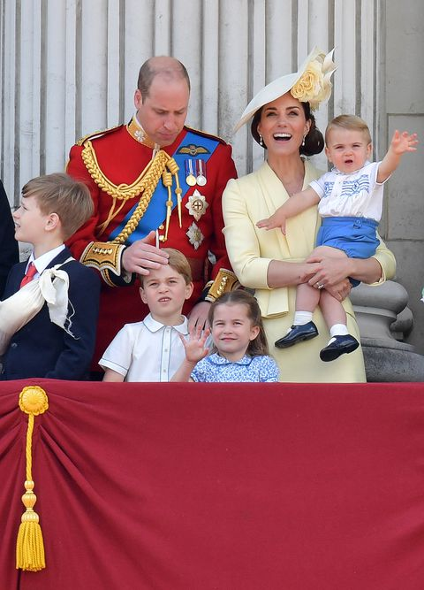 Prince Louis made his Buckingham Palace debut at Trooping the Colour GETTY IMAGES