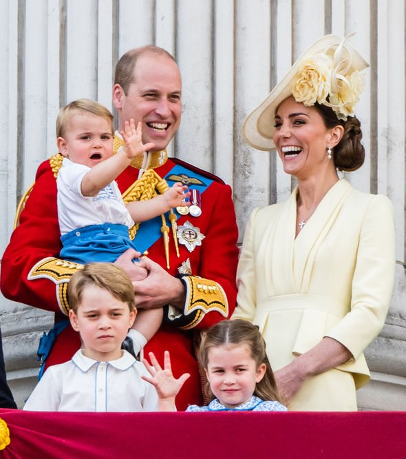 Prince Louis pictures It was the first royal event with all three Cambridge children present Image GETTY