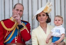 Prince Louis pictures The youngest Cambridge wore an adorable blue and white ensemble Image GETTY