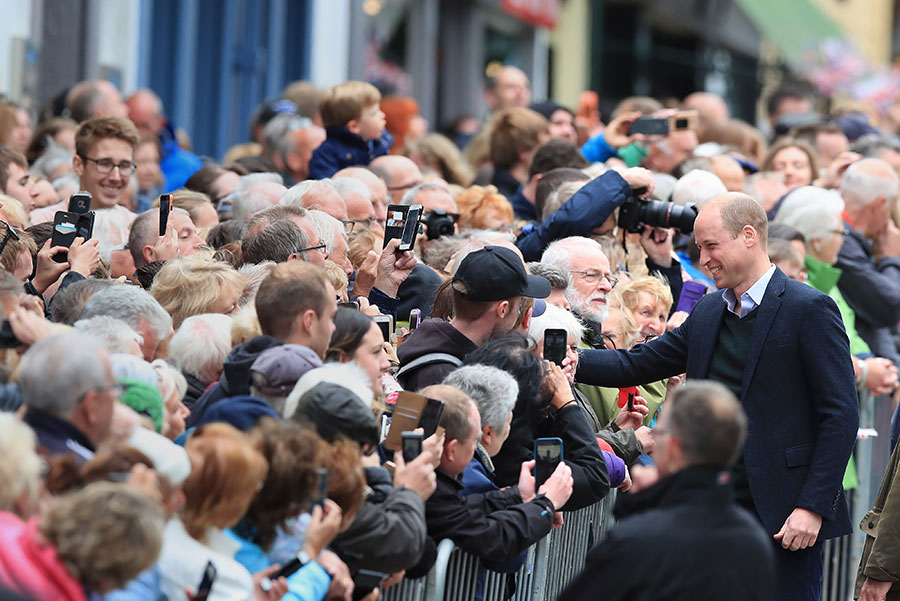 Prince William proved a hit with well wishers Photo C GETTY IMAGES