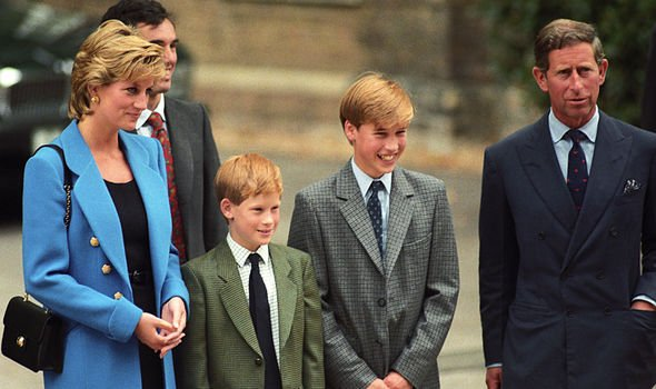 Prince William with his family and Eton Housemaster Dr Andrew Gailey Image GETTY