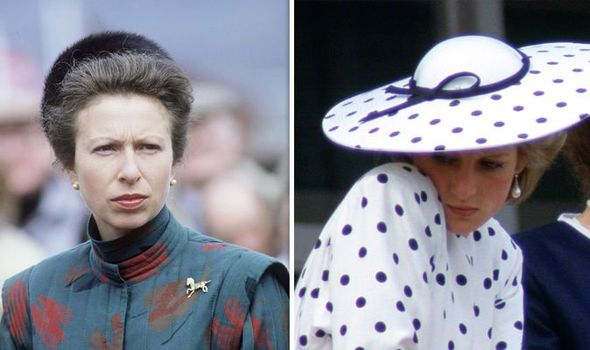 Princess Anne and Princess Diana Image Getty