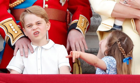 Princess Charlotte The bow was now being used to fasten her braids to meet at the back of her head Image GETTY