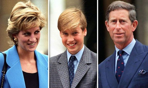 Princess Diana Prince William and Prince Charles Image GETTY