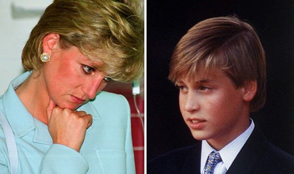 Princess Diana relied on William to comfort her when she was upset Image GETTY