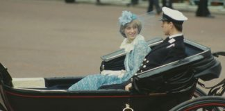 Princess Diana rode with Prince Andrew in a carriage while Prince Charles rode on horseback Image GETTY