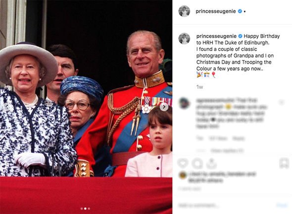 Princess Eugenie Instagram This adorable snap was taken at Trooping the Colour in Image INSTAGRAM PRINCESS EUGENIE