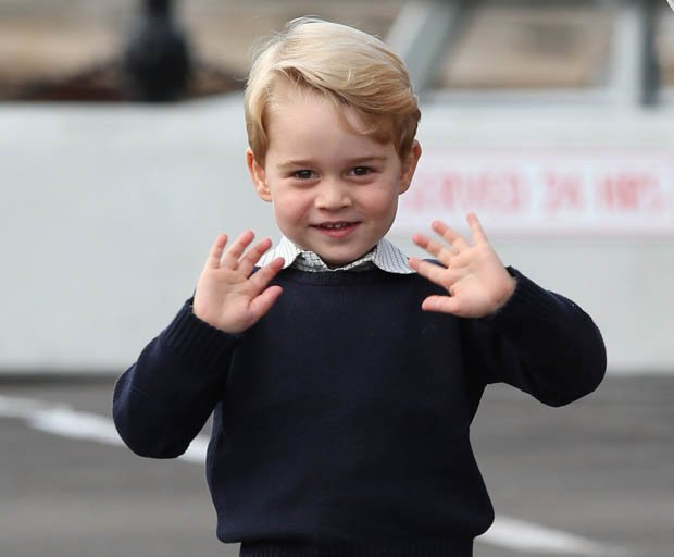 ROYAL Princess Charlotte was mimicking Prince Georges famous wave in Canada Pic GETTY