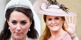 Royal wedding Sarah Ferguson was allowed to keep her tiara but Kate Middleton wasn't why Image GETTY