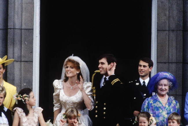 Sarah Ferguson and Prince Andrew on their wedding day Photo C GETTY IMAGES