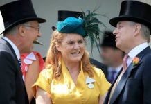 Sarah Ferguson at Royal Ascot with Prince Andrew Image PA